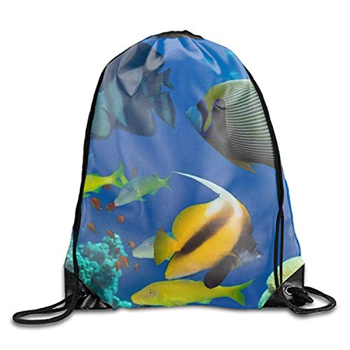 ZZHOO Cute Bongo Drawstring Bag Backpack Draw Cord Bag Sackpack Shoulder Bags Gym Bag Large Lightweight Gym for Men and Women Hiking Swimming Yoga