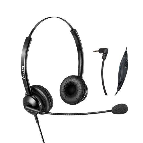 Cuffie da 2,5 mm a doppio Ear telefono auricolare con microfono a cancellazione di rumore per Yealink AVAYA Cisco Ericsson-LG Panasonic Polycom