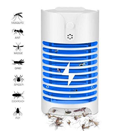 LQUIDE Elektronische Moskito-Falle, Mörder, Mit UV, Insektenvertilgungsmittel-Killer für den Innenbereich Ungiftig, geschmacklos, geräuschfreie Fliegenfalle, leistungsstarke und effiziente Birne -