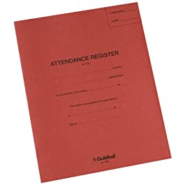 Exacompta, registro delle presenze, E100Z, Guildhall, rosso (in lingua inglese)