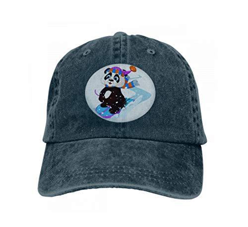 Unisex Baseball Cap Trucker Hat Adult Cowboy Hat Hip Hop Snapback Fast Fun Panda Cute Sledding Downhill Winter Snow Mountain Navy