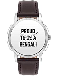 Wrist Watch For Men - Proud To Be A Bengali Best Gift For BENGALI - Analog Men's And Boy's Unique Quartz Leather...