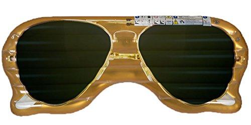 Bada Bing Aufblasbare Luftmatratze Sonnenbrille Brille Sun Glasses Cool Gold Ca. 170 cm Garten Pool Deko 81