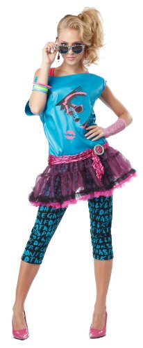 California Costumes Valley Girl (Turquoise/Black) - Four Adult Sizes from Small to X-Large