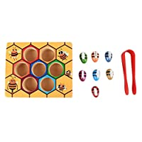 CHANNIKO-UK Children Clip Beehive Games Intelligence Color Cognition Toys Clip Small Bee Toy Wooden Early Childhood Education Tools