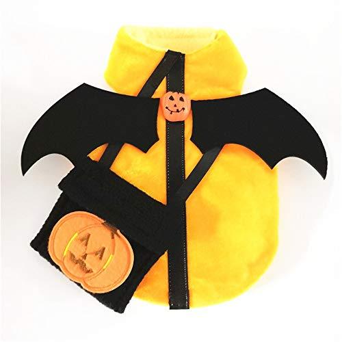 Haustier Halloween Kürbis Teufel Fledermausflügel Hundekostüm Klettverschluss Länge verstellbar Geeignet for große, mittlere und kleine Hunde Heimtierbedarf (Size : Xxxl) (Teufel Kostüm Für Große Hunde)