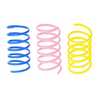 JIZUUU 20 Pcs Colorful Springs Funny Cat Toys for Cat Kitten Pets