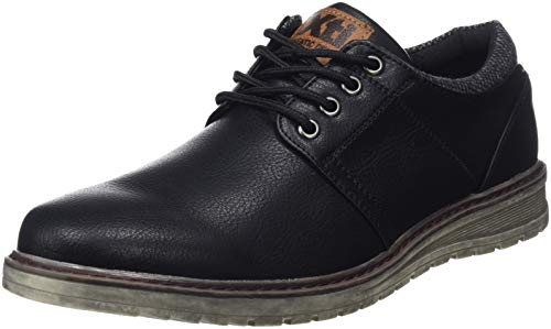XTI 48161, Zapatos Cordones Oxford Hombre, Negro Black