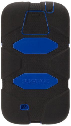 Griffin Rugged Case - Survivor - Samsung Galaxy S5 - schwarz/blau (Samsung Tablet Tasche Griffin)