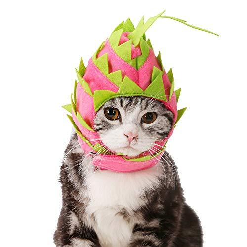 Etophigh Kopfbedeckung Pet Cute Holiday Party Hut Kostüm Obst Design Zubehör und einstellbare Stirnband für Hunde, Katzen (Katze In Den Hut-partei-zubehör)