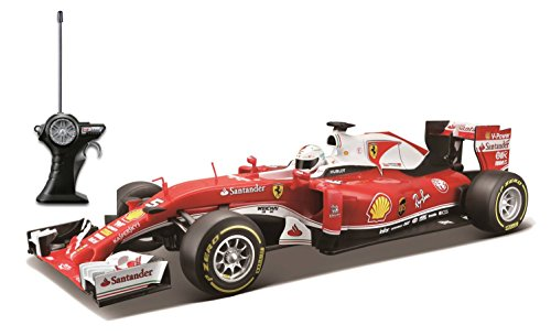 ferngesteuertes formel 1 auto Maisto Tech R/C Ferrari SF16-H: Ferngesteuertes Auto Sebastian Vettel 1: 14, Original Formel 1, mit Pistolengriff-Steuerung, 34 cm, rot (581254)