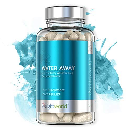 Water Away Wassertabletten | 60 hochdosierte Entwässerungstabletten gegen Wassereinlagerungen | 100% Natürliche Diuretika zur Entwässerung des Körpers | Gegen Ödeme in den Beinen & Füßen | Vegan