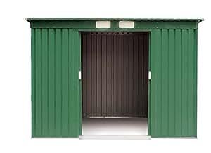 Box Casetta medium 194x121xH181CM lamiera zincata verde attrezzi giardino 621-6
