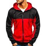 Herren Zipper Hoodie Coat Beiläufig PatchworkSlim Outwear Sweatshirt Kapuzenpulli Oberteil Hochwertige Baumwollmischung Sport Style Casual Alltag