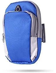 XYQY Sports Running Armband Bag Funda Cubierta de brazaletes Correr Universal Impermeable Sport Soporte para teléfono móvil Deporte al Aire Libre Brazo de teléfono China Azul