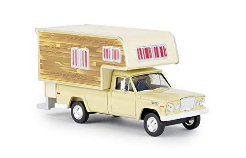 Brekina 19834 Jeep Gladiator Camper Woody, Auto Modell 1:87 (H0)