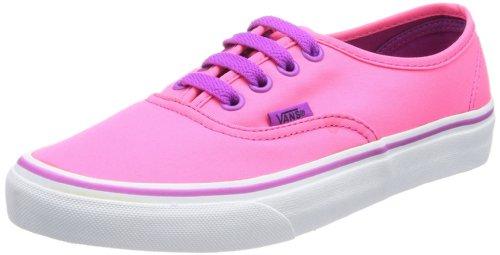 Vans U Authentic - Baskets Mode Mixte Adulte Rose (Neon Pink/Pur)