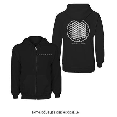 Bring Me The Horizon - Flower Of Life, Felpa da uomo, nero (black), 2XL