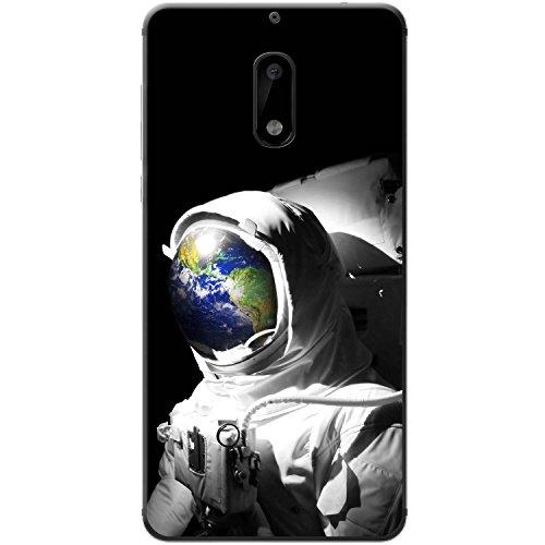 Astronautenanzug & Spiegelbild der Erde Hartschalenhülle Telefonhülle zum Aufstecken für Nokia 6