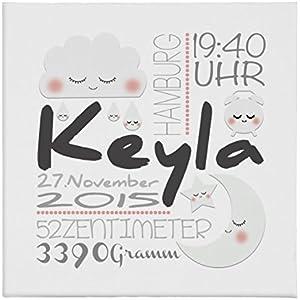 Geburtsbild Geburtsdatenbild Geburtsanzeige Keyla