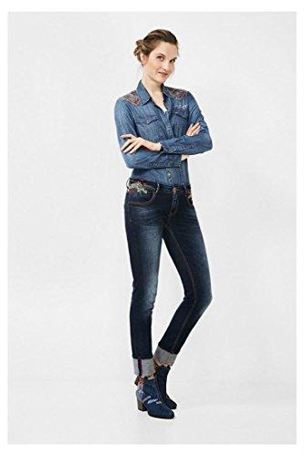 DESIGUAL -  Pantaloni sportivi  - Donna Blu