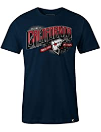 Famous Stars and Straps Men's Welcome To CA T Shirt Navy Blue