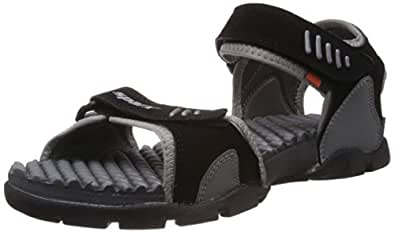 Sparx Men's Black and Grey Athletic & Outdoor Sandals - 10 UK