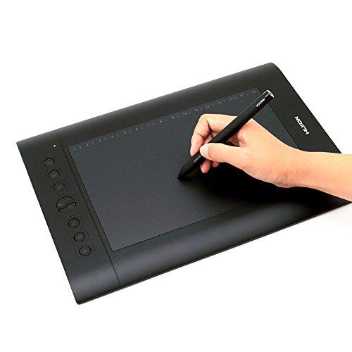 Huion® H610 Pro Dessin Tablette Graphique ,25,4 cm x 16cm (10'' x 6.25''), Noir