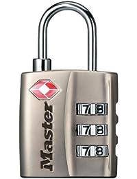 Master Lock Cadenas en acier TSA Nickel à combinaison