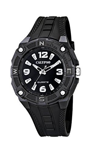 Calypso K5634 – Reloj de cuarzo para hombre, correa de plástico color negro