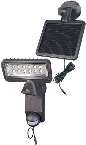 Brennenstuhl LED-Strahler Premium SOL SH / LED-Leuchte für außen mit Bewegungsmelder (IP44, inkl. Solar-Panel und Akku, 12 x 0,5 W) Farbe: anthrazit (Solar-leuchten-outdoor Akku)