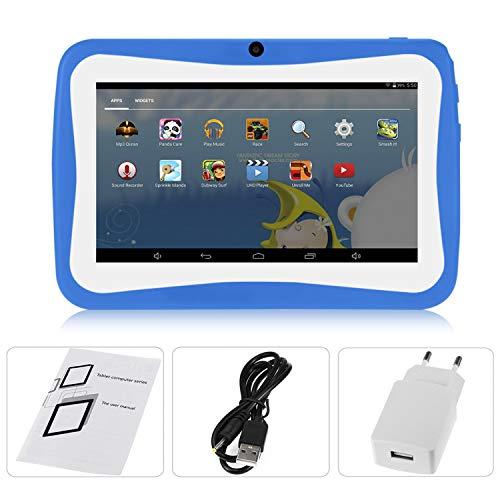 7-Zoll-Kinder-Tablet PC Android 4.4.2 Tablet 1.5GHZ Quad Core 8GB WiFi Tablette 1024x600 HD Schirm Kinder Bildung Gerät (blau) (Kinder Bildungs-tabletten)