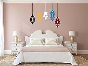Sticker 5 Lampes Mauresques multi couleurs