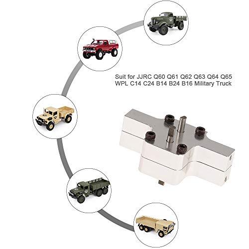 Leslaur Upgrade RC Car Metal Transfer Case for JJR/C Q60 Q61 Q62 Q63 Q64 Q65 WPL C14 C24 B14 B24 B16 Military Truck