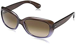 Ray-Ban Gradient Square Womens Sunglasses (0RB4101860/5158|58|Pink)