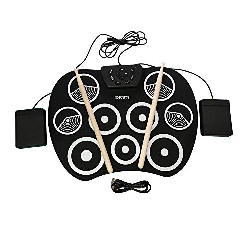 Mkxiaowei Elektronische Schlagzeuger Rollen Regal Trommel krempelt Drum Anfänger Kinder Schlaginstrument USB handgerollte e-Drum