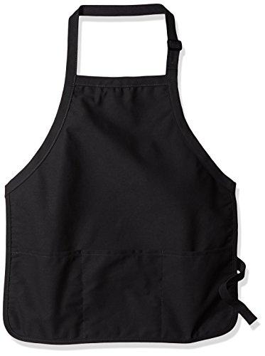 Augusta 4250Medium Länge Schürze mit Tasche Einheitsgröße Schwarz