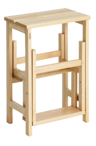 Valdomo 156/18 sgabellone suegiù scala in legno di faggio, legno naturale