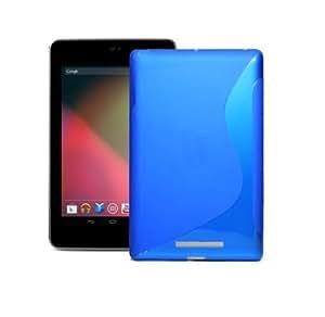 Bingsale S-Line Coque pour tablette Google Nexus 7 en TPU Bleu