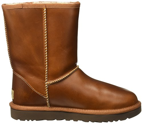 UGG Australia Womens Classic Short Leather Boots Brown