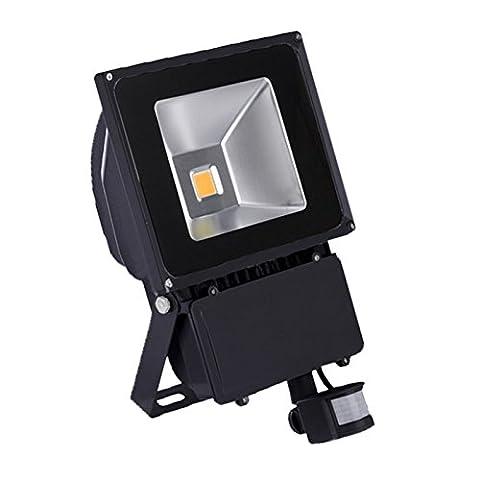 VINGO® 100W Blanc Chaud Projecteur LED détecteur de mouvement IP65 Floodlight PIR extérieur Lampe de capteur infrarouge humain