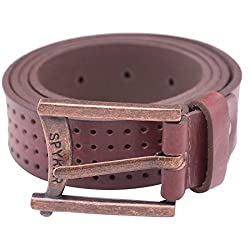 Spykar Mens Leather Belt (SPY/MBL/2AF11_Brown_xx-Large)