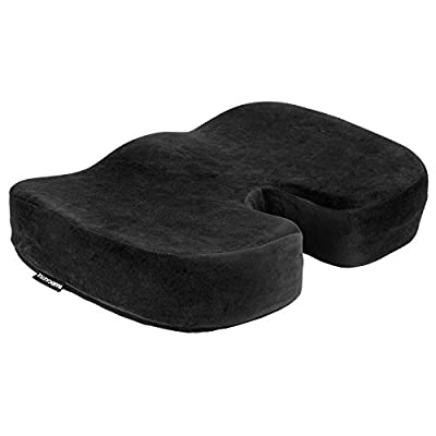 Hardcastle Plush Black Memory Foam Padded Seat Cushion - inexpensive UK light store.