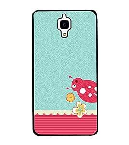 Beetle Pattern 2D Hard Polycarbonate Designer Back Case Cover for Xiaomi Redmi Mi 4 :: Redmi Mi 4