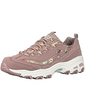 Skechers D'lites-Floral Days, Zapatillas para Mujer