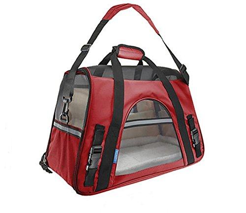 AnGe Bolsa de Transporte para Mascotas Perros Gatos Transportín Plegable ,suave cara Carrier , red , large