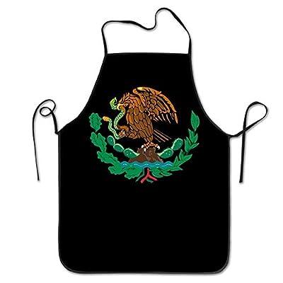 LarissaHi Mexikanische Flagge Unisex Küche Schürze Grill Maniküre Shop mit verstellbarem Hals Kochschürze