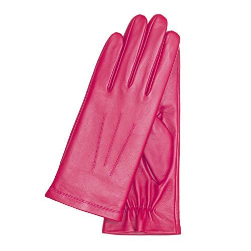 KESSLER, Lederhandschuh Marla, Lammnappa, warm gefüttert, hot pink, 7,5 (Hot Leder Damen Handschuhe)