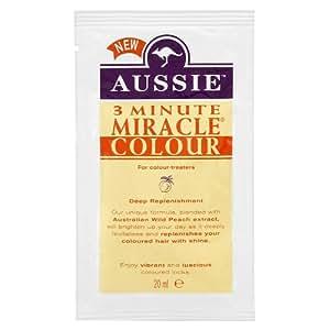 Aussie Lot de 12 sachets de soin intense 3 Minutes Miracle pour cheveux colorés