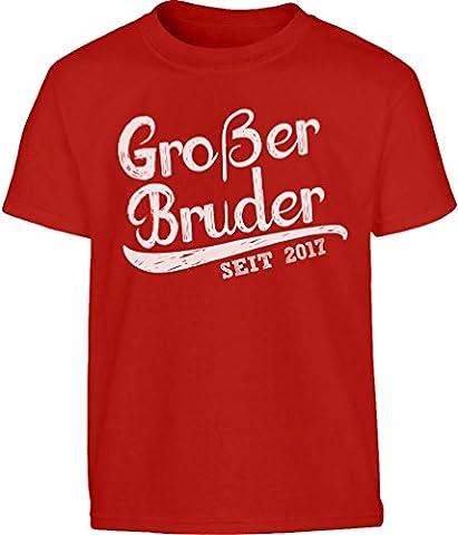 Geschenk Großer Bruder Seit 2017 Kleinkind Kinder T-Shirt - Gr.
